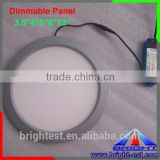 Round LED panel light with long life span CE RoHS certificate,Ultrathin household Double color led panel light