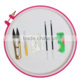 New Arrival Cross Stitch Device Tools Scissors Hoist Threader Refills 19CM Embroidery Needle Embroidery Circle