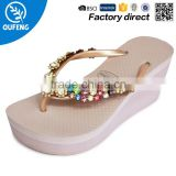 2016 New Design Fashion Crystal Ladies High Heel Women Fancy Slipper                                                                         Quality Choice
