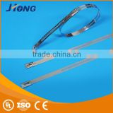 glass filled 66 bicycle saddle pvc ladder type stainless steel cable tie with Multi Lock Type