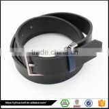 Fashion Black Cheap Price Special Design belt for men with flat buckle
