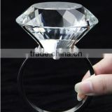 40mm clear color crystal napkin ring, crystal diamond napkin holder