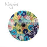 Kanzashi Colorful Hand Painted Handmade Japanese Colth Paper Umbrella