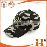 new cotton baseball with your custom special applique, patch or badge fancy camo sports cap high quality wholesale