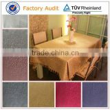 polyester jacquard table cloth for wedding or banquet