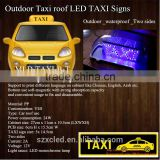 12V Car roof light PP material Top sign outside waterproof LED Blue TAXI Top display/panel/screen
