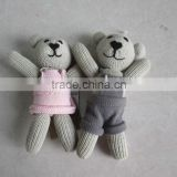 Hot sell Stuffed Knit Teddy Bear,Knitted Toy,Knitted Plush Toy                                                                         Quality Choice