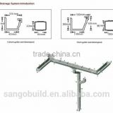 SGB PVC square gutter/PVC rain water collector/PVC rain water gutter