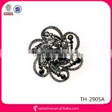 Factory Wholesale Cheap Black Fashion Rhinestone Brooch