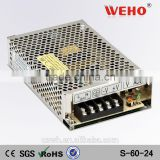 S-60-24 ac dc transformer 60w 24 volts switch mode industrial power supply