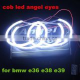 COB Angel Eyes Auto Halo Rings COB Angel Eye Car Headlight Motorcycle White Red Yellow Blue 12V Led angel eyes for bmw e39