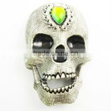 Hot shaped shoe and belt binding ratchet skull rhinestone buckle