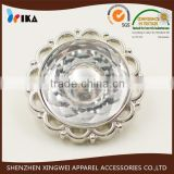sunflower shape plastic shank button with decorative crystal