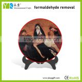 Catholic nun painted plate activated carbon crafts,home decor crafts