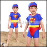 2016 fashion child models boys in bikini superman pattern swimwear