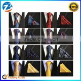 Stylish Polyester Silk Necktie Mens Tie Set With Hanky For Gift                                                                         Quality Choice