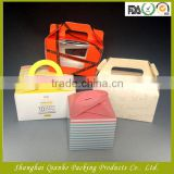 Elegant foldable craft carton cake custom box