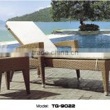 Outdoor Sun Bed With Leisure Table Longue Chair Synthetic Rattan Furniture