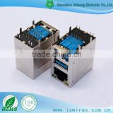 USB 3.0 Connector Double Ply 90 degrees DIP Type with RJ45 Connector