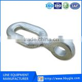 Overhead Pole Line Hardware / Galvanized Ball Eye ZH Type Clevis Steel Forged Extension rings