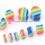 FACTORY PRICE UV acrylic rainbow ear plug /tunnel body jewelry/jewellery piercing FACTORY