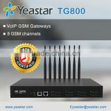 Yeastar TG800 GSM Gateway VOIP Gateway with 8 SIM Card Slots and 8 GSM Ports