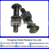 Steel structure with high torsional shear strength hexagon head bolts