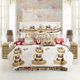 newest hot sale king queen full size 4pcs duvet cover bed sheet pillow/cushion bedclothes cartoon ted bedding set