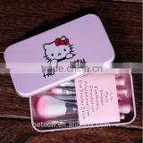 hello kitty makeup brushes pink wood handle synthetic hair make up brush set