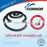 Eco-friendly,high quality,unbreakable mosquito repellent. inseciticide coil smokeless mosquito coils