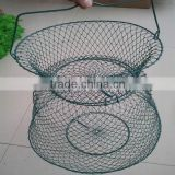 Wire mesh fish trap fishery protection