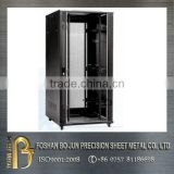 China supplier 19u wheeled metal network rack cabinet with powder coating
