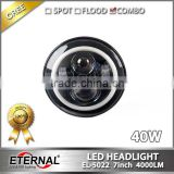 7in round off-road truck SUV cars 4x4 vehicles high power 40W dual sealed beam halo ring driving lamp