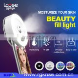 2017 new selfie ring light for mobile cell phone with mist sprayer