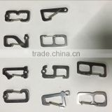wholesale stainless steel number carabiner for ourdoor equipments