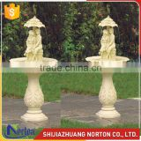 Garden decor carved lovers water marble fountain for sale NTMF-012LI