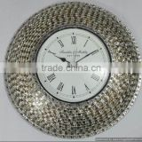 metal material shiny mosiac funky clock for sale