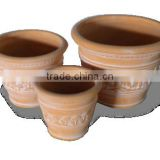 Mekong Delta Terracotta Flower Pots made from Clay in Tuscan Pots Series
