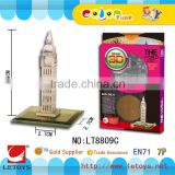 3d diy building puzzle Metal Puzzle Diy Big Ben famous Architecture building