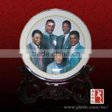 Europe style excellent quality hand painting portrait personalized ceramic plates for souvenir
