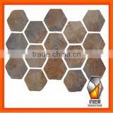 Rusty Natural Slate Flag stone,meshed paving stone