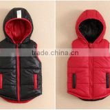 Wholesale mom and bab infant and toddler jackets, two sides wear kids boys vest winter
