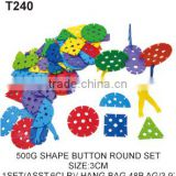 500 g Plastic Tang Han Button Shape Building Blocks Educational Toy