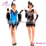 Party dresses tassels girls western latin dance costumes