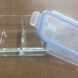 Glass food container with seperation
