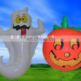 Inflatable Halloween Ghost and Pumpkins