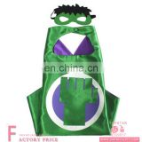 Movie green costumes christmas adult superhero cape dress
