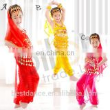 BestDance kids bellydance costume wear india belly dance costume wear bra tops, belt and pants OEM