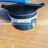 multipanel mesh material uniform cap /custom black military hat