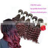 brazilian double drawn ombre virgin hair weave natural aunty funmi curly human hair extension for black women
